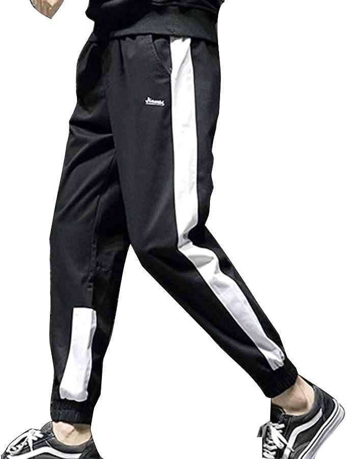 Hombre Pantalones De Chándal Pantalones Deportivos Sueltos Color ...