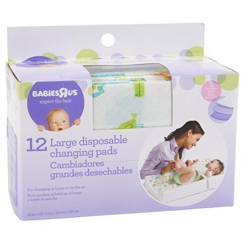 Babie R Us Large Disposable Changing Pads - 12 Pack by Babie