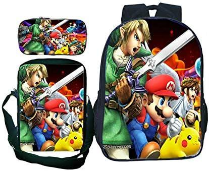 Bolsa 3pcs/ Lote Super Mario Smash Bros Estudiantes Niños Niñas Mochila Sorpresa Regalo Schoolbag Rucksack 3pcs / Set Mochila + Hombro Bolsa + Lápiz Caso: Amazon.es: Oficina y papelería