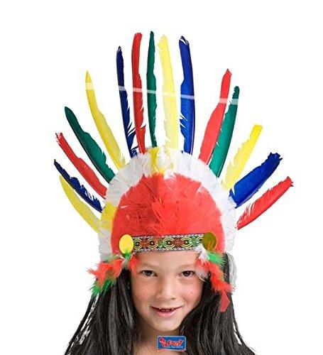 Cappello Indiano per bambini con piume - Per feste e Carnevale ... 8d7990daf19f