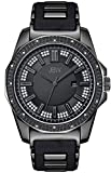JBW Men's J6332B Regal Analog Black Dial Silicone Watch