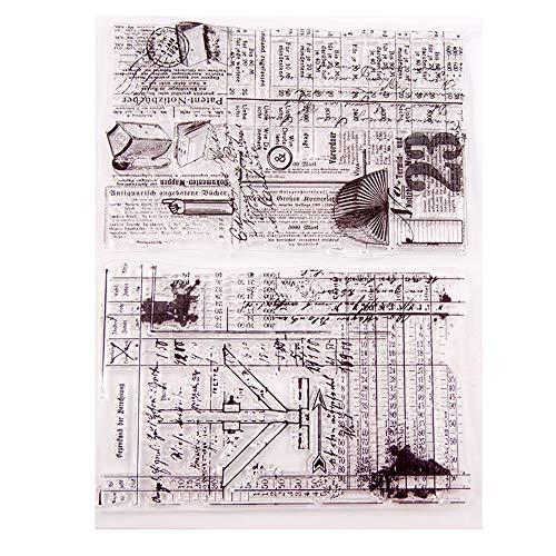 (Layhome Stamp DIY Scrapbook Clear Stamping Card Making (Vintage 14x18cm))