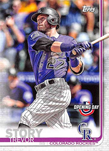 (2019 Topps Opening Day #34 Trevor Story Colorado Rockies Baseball Card)