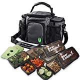 Bear KompleX Insulated Meal Prep Management Lunch Bag, 6 Compartment...