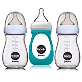 JOOVY Boob Glass Bottle 3-pack, Clear, 8  Ounce