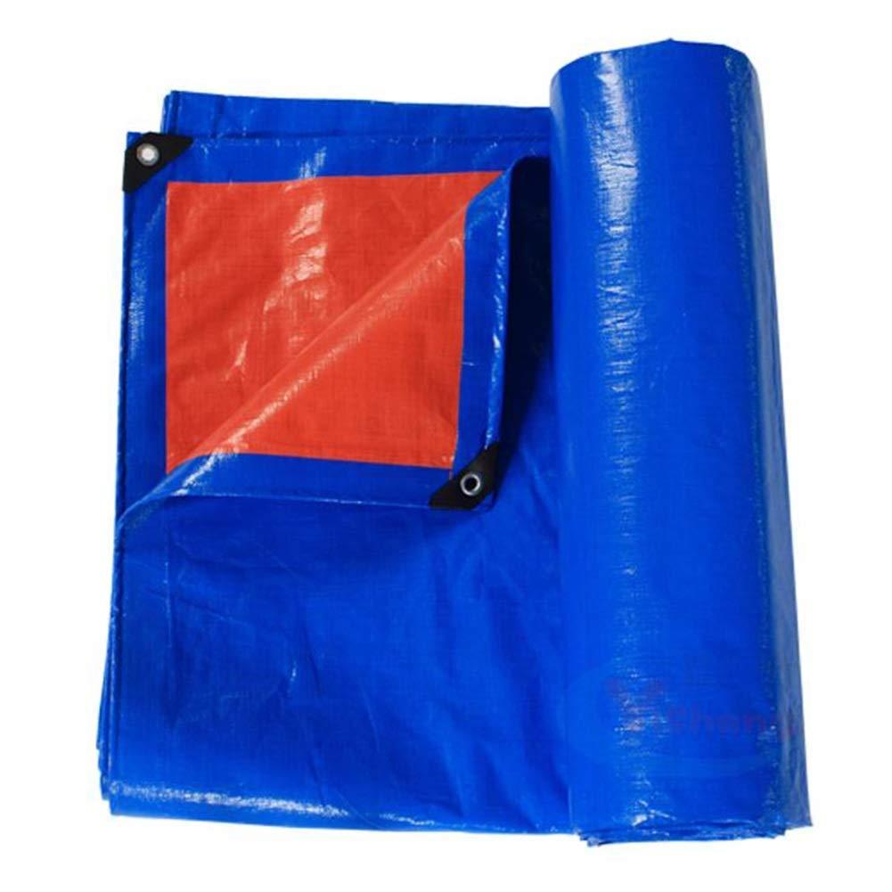 Bleu 10X12M 14EU-Haucalarm BÂche de Prougeection Pratique Tente extérieure bÂche antipluie écran Solaire bÂche bÂche Camion bÂche extérieure Tente Parasol Coupe-Vent Coupe-Vent