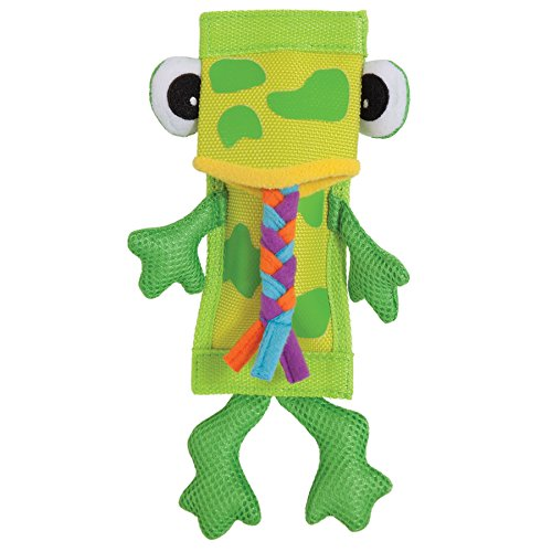 Petmate ZOOBILEE 32016 Firehose Frog Dog Toy