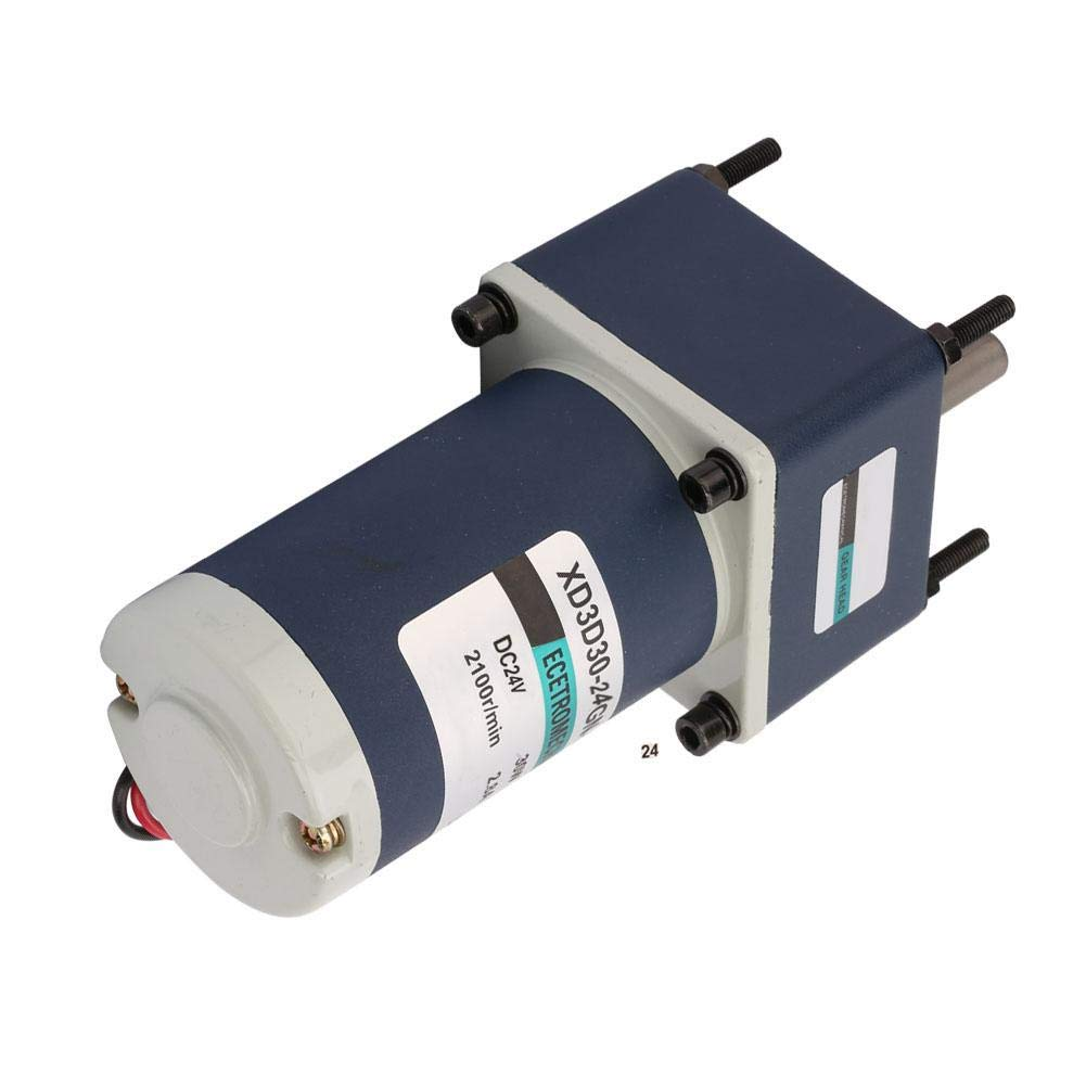 SH-CHEN DC24V Gear Motor Industrial Motors 30W XD3D30-24GN-21S CW//CCW Permanent Magnet Motor Adjustable Speed Reduction Gear Motor 12RPM
