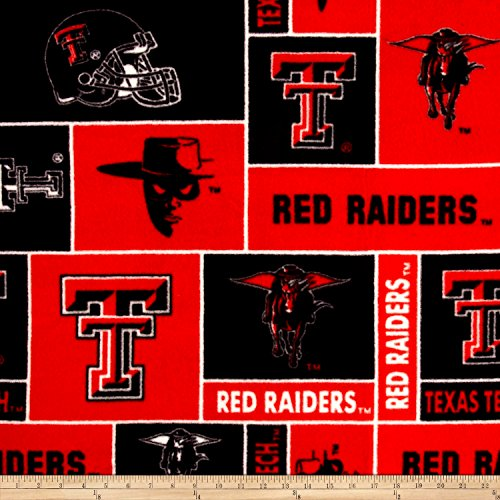 Collegiate Fleece Texas Tech University Fabric By The Yard