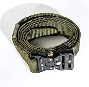 Tactical Belt for Men, Military Style Nylon Web Belt with Heavy-Duty Quick-Release Metal Buckle