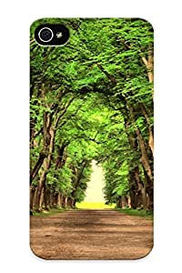 Goldenautumn High-end Case Cover Protector For Apple Iphone 5C Case Cover (road Green Trees Beautiful Landscape Nature Road Green Trees Beautiful Landscape Nature )