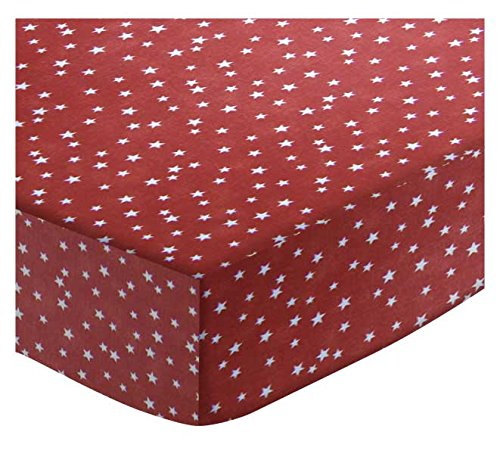 SheetWorld Fitted Cradle Sheet - Cloudy Stars Rust - Made In USA