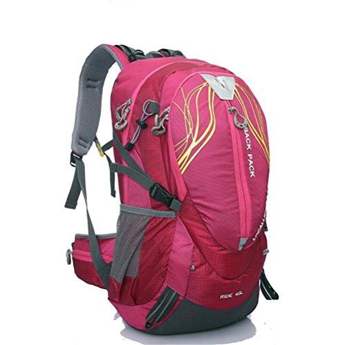 Wmshpeds Montañismo bag 40L bolsa para hombro soporte exterior escalada mochila al hombro impermeable mochila equitación deportes A