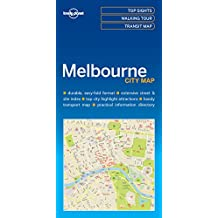 Lonely Planet Melbourne City Map 1st Ed.