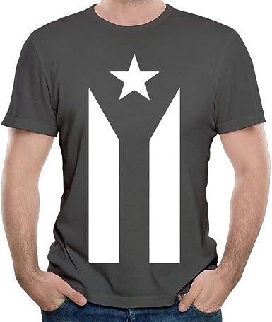 Bandera de protesta Negra y Blanca de Puerto Rico Moda Hombre Camisas de Manga Corta Ropa de Verano Tops para Hombres M: Amazon.es: Ropa y accesorios