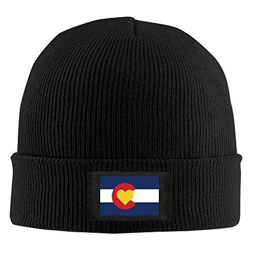 Runningway Love Heart Colorado Flag Knit Winter Beanie