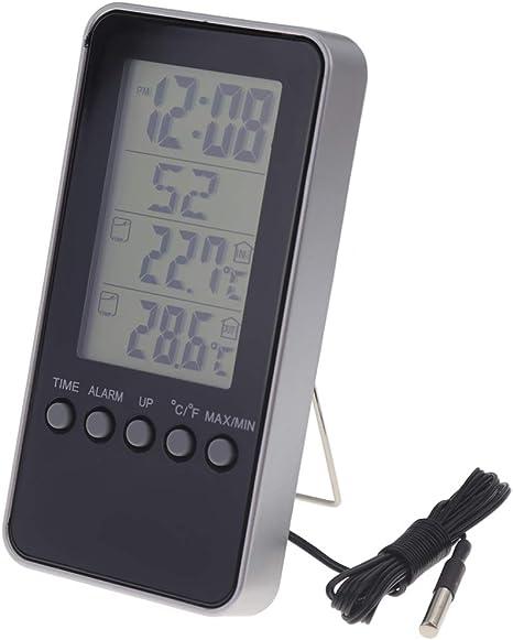Termómetro digital para interiores y exteriores, con práctico ...