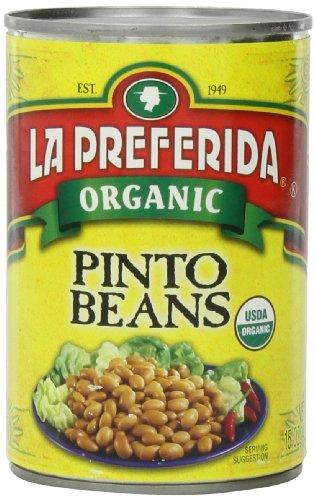 La Preferida Beans Pinto Organic, 15-Ounce (Pack of 12) by La Preferida