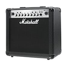 Marshall MG4 Carbon Series MG15CFX 15 Watt Guitar Combo Amplifier with 4 Programmable Channels, Effects, MP3 Input