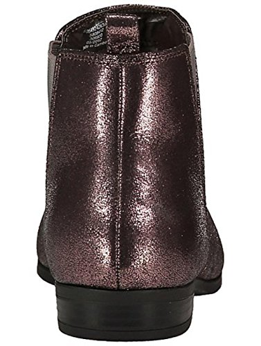 Faux Low Leather Rounded Pull Block 7 Heel Brown School Elasticated with Ankle amp; Boots Toe 4 Size 5 Tab 6 3 6 Ladies Flat Chelsea Metallic on Work 5 Black Bronze 9 8 Womens Suede E5w6Hqv