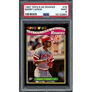 1987 toys r us rookies #18 BARRY LARKIN cincinnati reds rookie card PSA 9 Graded Card
