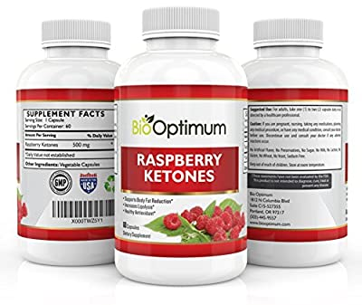 Premium Raspberry Ketones - 100% Pure Maximum Formula for Fat Burning & Weight Loss - Appetite Suppressant - Safe Natural Weight Loss Supplement - Gluten Free - 1000MG Per Serving