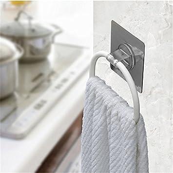 Traceless - Toallero con ventosa para montar en la pared, soporte para toallas, toallero