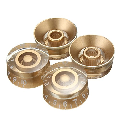 Speed Guitar Control Knobs Set of 4 Gold - 2