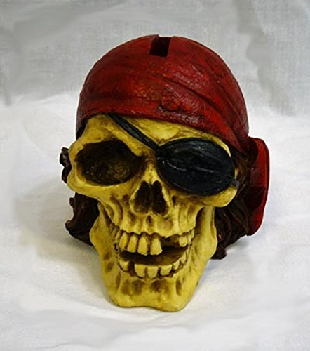 Home Accents Pirate Skull Money Coin Piggy Bank | 4