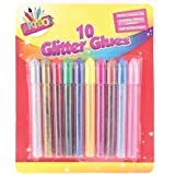 10 x Childrens Kids Glitter Glue Art Craft Pens! Gold Silver Red Green Pink Blue +