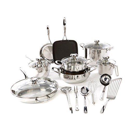 Wolfgang Puck Cookware Set WP19PC2017 Bistro Elite 19-piece Stainless Steel