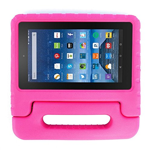 Pink 8 Gb Accessory (Mchoice Kids Shock Proof EVA Handle Case Cover for Amazon Kindle Fire HD 7 2017 (Hot)