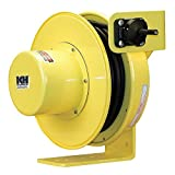 KH Industries RTF Series ReelTuff Power Cord Reel with Constant Tension for Festooning Systems, 14/4 SOOW Cable, 50' Length, Yellow Powder Coat Finish