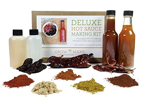 Hot Chili Sauce Recipes (Grow and Make: Deluxe DIY Gourmet Hot Sauce Kit, 6 Recipes Included)
