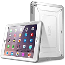 Supcase Beetle Defense Series for Apple iPad Mini with Retina Display Case with Built-In Screen Protector, White/Gray