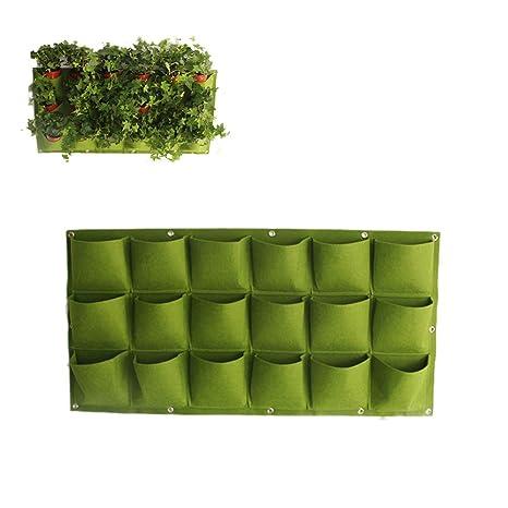 Bolsitas para colgar en la pared de Neborn, 18 bolsas verdes para el jardín, verduras, salones, jardines, etc.