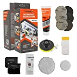 Visbella DIY Vehicle Headlight Restoration Kit, Heavy Duty Drill Based, Ultimate Headlight Restore Cleaner with UV Protection - Clear...