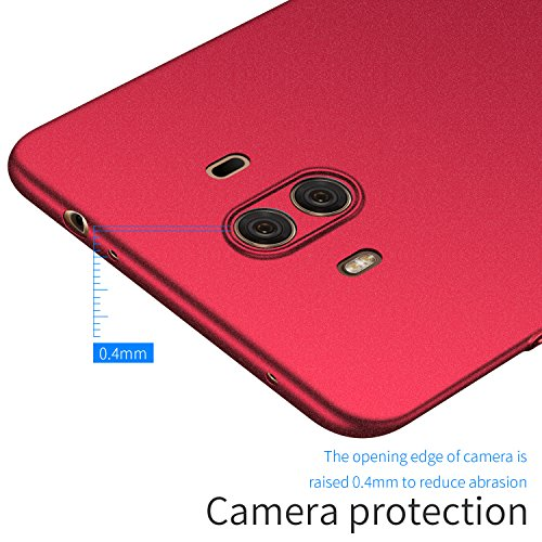 Avalri Huawei Mate 10 Case, Ultra Thin Anti-Fingerprint and Minimalist Hard PC Cover for Huawei Mate 10 (Matte Red)