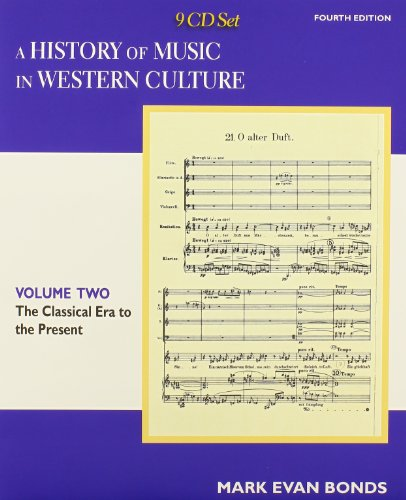 CD Set Volume II  for A History of Music in Western (2 Cd Set Music Book)