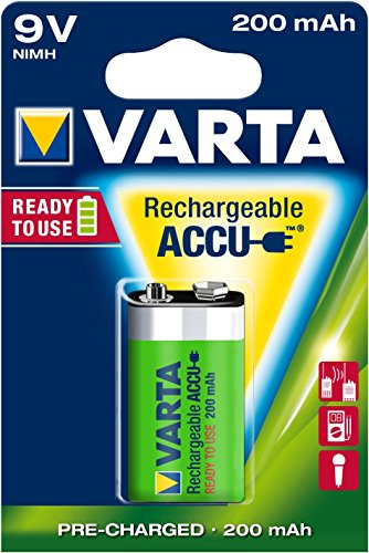 Varta 9V NiMH Rechargeable Battery 200 Mah Nickel Metal