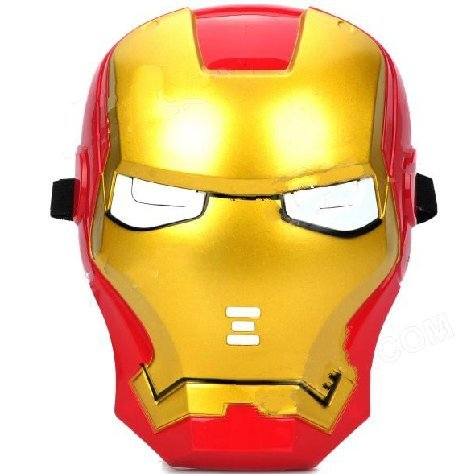 Man Light Iron Costumes Up (Cosplay Iron Man Mask with Blue Light-Up)