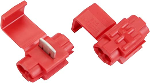50 Red 22-18 Ga AWG Gauge 12 Volt Wire Taps Scotch Lock Connectors Terminals