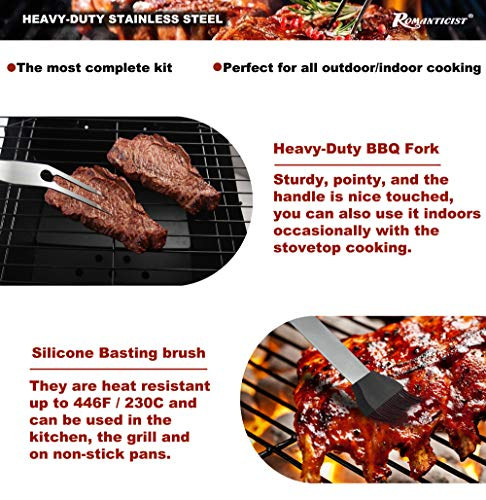 Romanticist 18 PC Kit Barbecue in Acciaio Inox - Kit Barbecue Premium per Uomo Regalo di Compleanno di papà - Perfetti… 5 spesavip