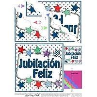 Español estrellas de jubilación ondulado esquina apiladora por