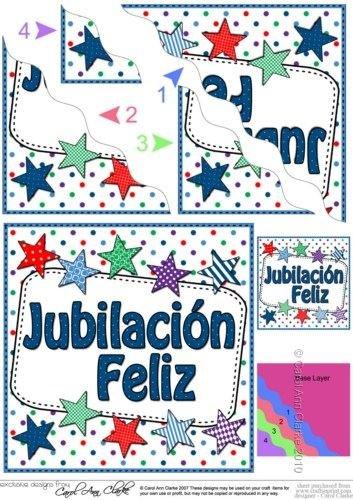 Español estrellas de jubilación ondulado esquina apiladora ...