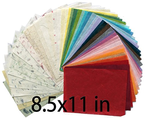 47 8.5x11in Mulberry Paper Sheet Design Craft Hand Made Art Tissue Japan Origami Washi Wholesale Bulk Sale Unryu Suppliers Thailand Products Card Making