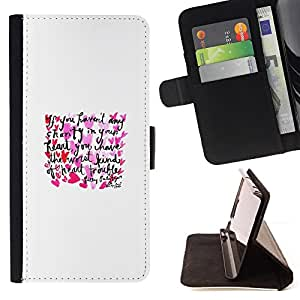 Jordan Colourful Shop - love heart text minimalist white poster For HTC One M7 - Leather Case Absorci???¡¯???€????€????????&cen