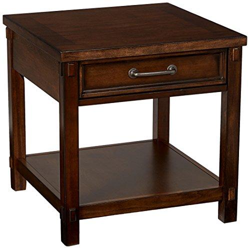 Simmons Casegoods End Table, Dark Pecan