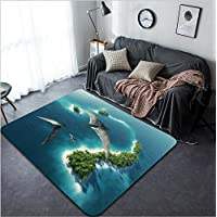 Vanfan Design Home Decorative 120147064 Dinosaurs natural park Jurassic Period Modern Non-Slip Doormats Carpet for Living Dining Room Bedroom Hallway Office Easy Clean Footcloth