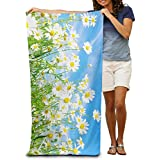 Spring Daisy Flower Sea Quick-drying Pool Beach Towel Travel Bath Towel For Adults